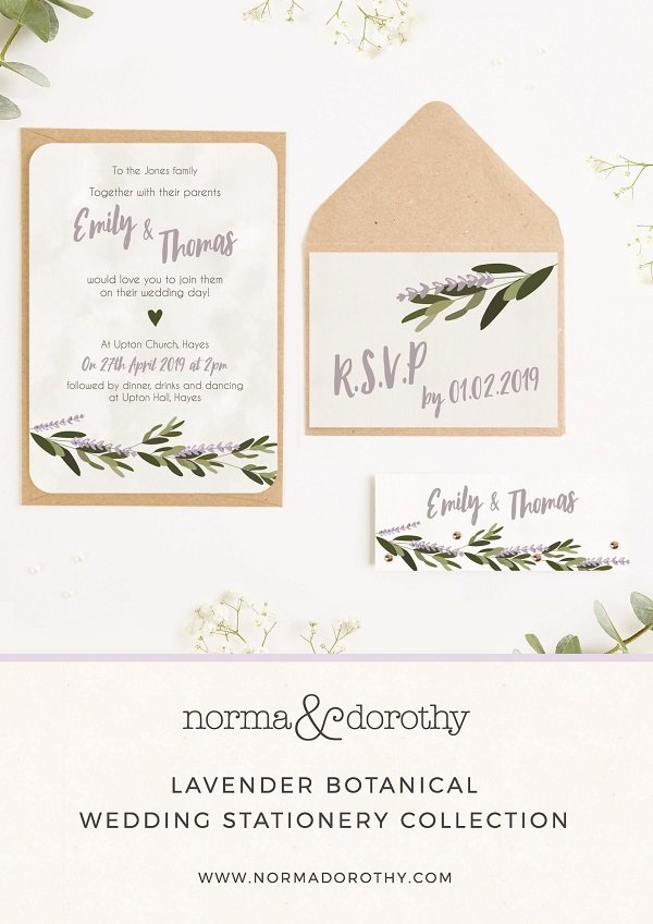 An image of wedding stationery which links to a lookbook download