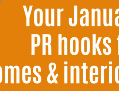Your January PR Hooks for homes & interiors PR