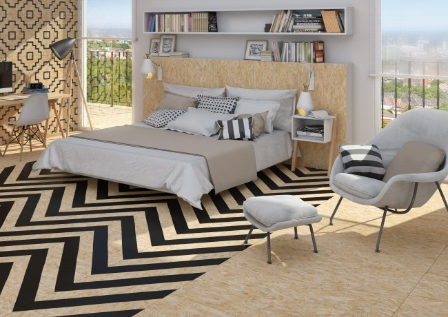 Chipboard Stripes and Geo Line Black