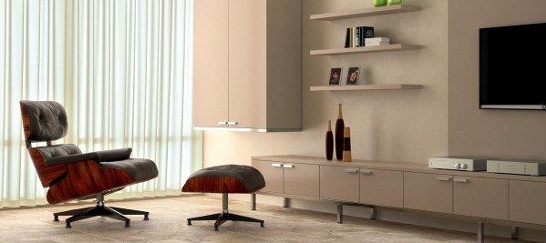 Stylised shot of mid century furniture