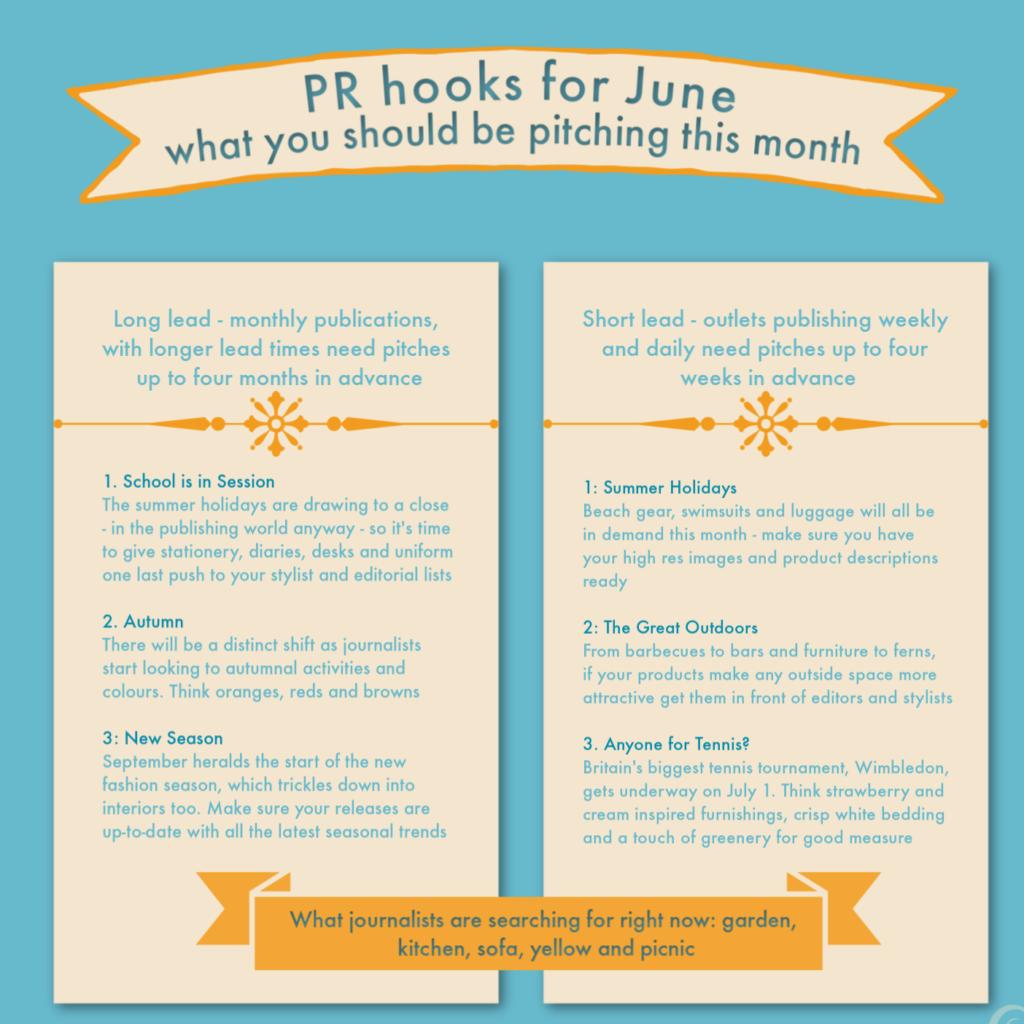 PR ideas for interiors in June