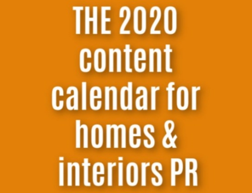 Homes & Interiors PR calendar – Interiors PR Hooks for 2020